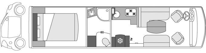Camping-car de luxe Le Voyageur Liner - 1000SQD CAR