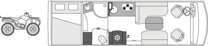 Camping-car de luxe Le Voyageur Liner - 824BD