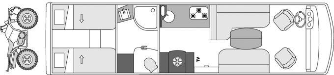 Camping-car de luxe Le Voyageur Liner - 924GD